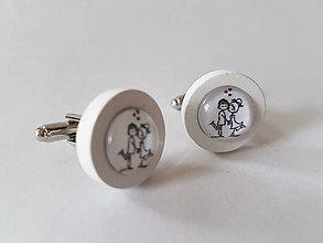 Šperky - Manžetové gombíky - LoVe - 11966310_