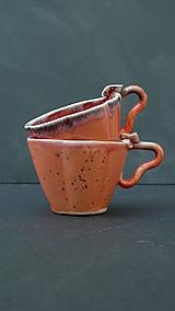 Nádoby - šálka v tvare kvetu červeno-ružová  - 11964381_