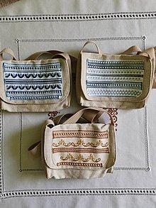 Kabelky - Ručne vyšívaná ľanová taška - 11965414_