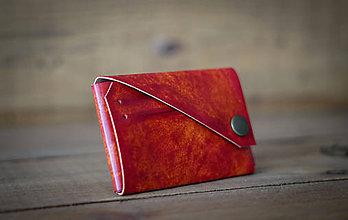 Peňaženky - Mini peňaženka (červená) - 11963512_