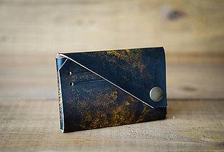 Peňaženky - Mini peňaženka (hnedá) - 11963584_