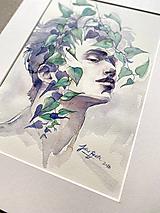 Obrazy - Muž s brečtanom, originál akvarel - 11964006_