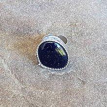 Prstene - Cínovaný prsteň - Modrý avanturín - 11967943_