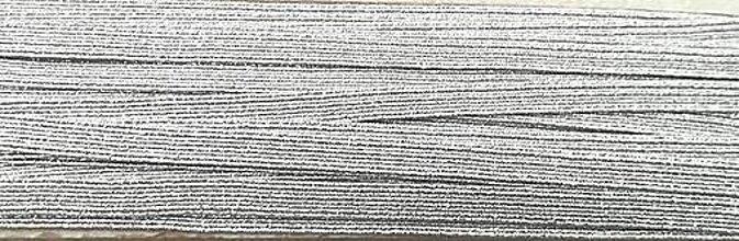 Galantéria - Guma prádlová 6mm (Strieborná) - 11967486_