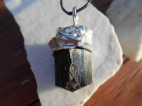 Šperky - black turmalin-ochrana-skoryl - 11970768_