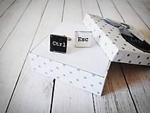 Šperky - Manžetové gombíky Ctrl Esc - 11970483_