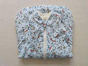 Textil - VLNIENKA Spací vak pre deti a bábätká 100% MERINO Top XS/S/M/L/XL/XXL mentolovo-bledomodrý - 11970591_