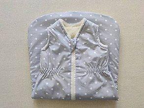 Textil - VLNIENKA Spací vak pre deti a bábätká 100% MERINO Top XS/S/M/L/XL/XXL pastelový šedý - 11970602_
