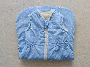 Textil - VLNIENKA Spací vak pre deti a bábätká 100% MERINO Top XS/S/M/L/XL/XXL bledomodrý - 11970675_