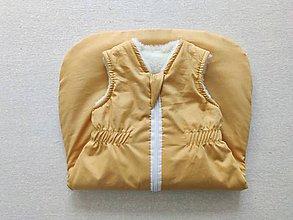 Textil - VLNIENKA Spací vak pre deti a bábätká 100% MERINO Top XS/S/M/L/XL/XXL horčicový - 11970723_