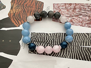 Náramky - Modrý Amazonitový Náramok / Blue Amazonite Bracelet - 11971011_