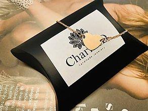 Náramky - Zlatý náramok so srdiečkom Heart / Rose gold bracelet with Heart charm - 11971186_