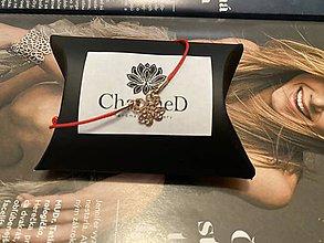 Náramky - Ružový náramok s príveskom štvorlístok / Rose Gold bracelet with Four-Leaf Clover Charm - 11971201_
