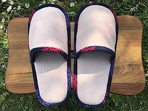 Obuv - Papuče z bledoružovej rifloviny - 11968991_