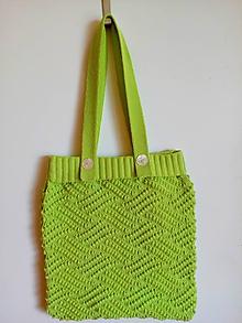 Nákupné tašky - Pletene  tašky - 11967638_