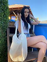 Veľké tašky - MEGA lovely Summer bag SNEHOBIELA - 11970623_