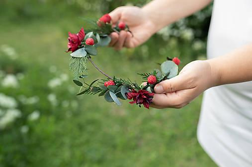 """Kvetinový polvenček """"láska vonia po jahodách"""""""