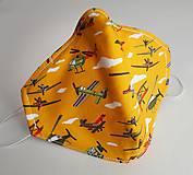 Rúška - Ochranné rúško 3-vrstvové - lietadlá - 11970598_