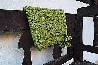 Úžitkový textil - Merino deka so strapcami - 11969229_