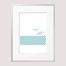 Grafika - Interiérový plagát More 3 - 11969173_