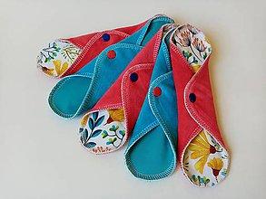 Iné doplnky - EKO Lady - Blue Red Flowers (Set 5ks) - 11968497_