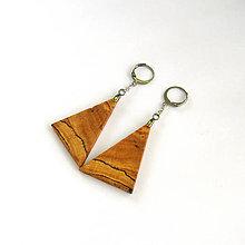 Náušnice - Drevené náušnice visiace - špaltované hrabové - 11967560_