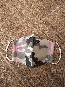 Rúška - Detské ružový maskač - 11973741_