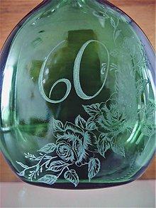 Nádoby - Výročná fľaša ruže 60 - 11974523_