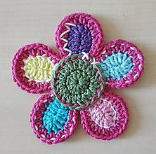 Materiál ručne robený - Pestrofarebná kvetina - 11971662_