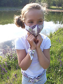 Rúška - Dievčenské - tvarované rúško - 11972134_