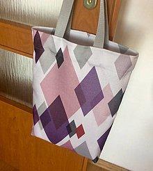 Nákupné tašky - taška geometrická - 11973203_