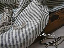 Textil - BLACK AND WHITE stripes....100% len šíře 260cm - 11972772_