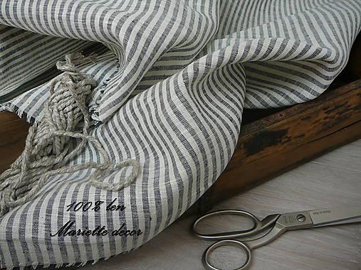 BLACK AND WHITE stripes....100% len šíře 260cm