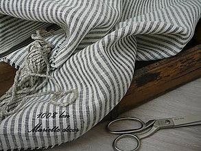 Textil - BLACK AND WHITE stripes....100% len šíře 260cm - 11972771_