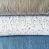 Textil - bodkovaný 100 % bavlnený mušelín chladné odtiene, šírka 130 cm - 11972145_