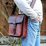 Tašky - Pánska kožená taška *mahagón* - 11974206_