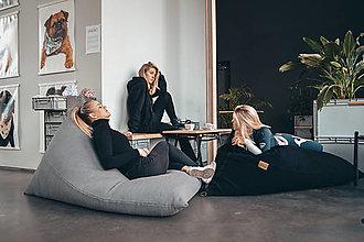 Úžitkový textil - Sedací vak, šedá STONE - 11974337_