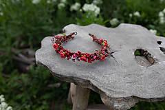 """Ozdoby do vlasov - Kvetinový polvenček """"v lese po špičkách"""" - 11972432_"""
