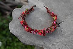 """Ozdoby do vlasov - Kvetinový polvenček """"v lese po špičkách"""" - 11972433_"""