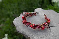 """Ozdoby do vlasov - Kvetinový polvenček """"v lese po špičkách"""" - 11972434_"""