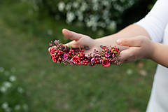 """Ozdoby do vlasov - Kvetinový polvenček """"v lese po špičkách"""" - 11972437_"""