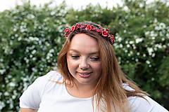 """Ozdoby do vlasov - Kvetinový polvenček """"v lese po špičkách"""" - 11972441_"""