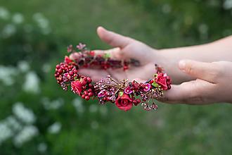 """Ozdoby do vlasov - Kvetinový polvenček """"v lese po špičkách"""" - výpredaj z 28€ - 11972436_"""