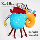 Hračky - Hrkalka/ hryzátko- Sloník uškatý - 11972158_