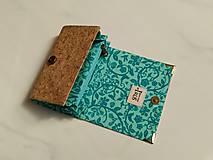 Peňaženky - Přírodní korek - i na karty 13 cm - 11972358_