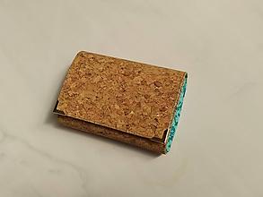 Peňaženky - Přírodní korek - i na karty 13 cm  - 11972357_