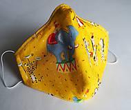 Rúška - Ochranné rúško 3-vrstvové - magický žltý cirkus - 11973958_