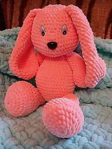 Hračky - Háčkovaný zajačík - 11974224_