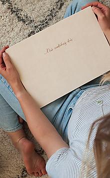 """Papiernictvo - Fotoalbum/Svadobná kniha hostí - Náš svadobný deň """"rosegold"""" - 11972769_"""