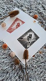 Grafika - Linoryt vtáčik - 11971732_